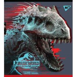 "Зошит для записів А5/18 кл. YES ""Jurassic world. Science gone wrong"" Ірідіум+гібрід.виб.ла"