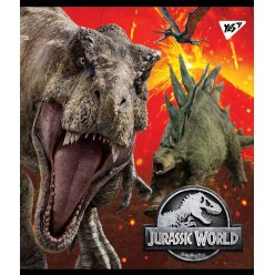 """Зошит для записів А5/24 кл. YES """"Jurassic world"""" Ірідіум+гібрід.виб.лак"""