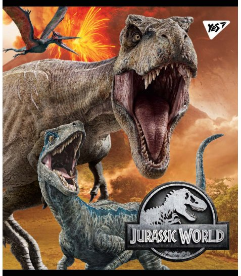 Зошит А5 24 Лін. YES Jurassic World