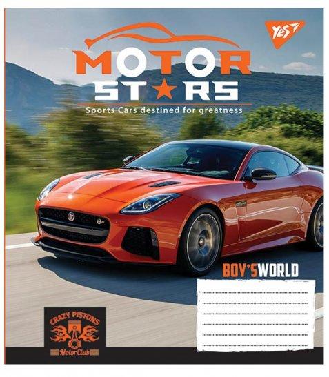 А5/36 кл. YES Motor stars, зошит дя записів