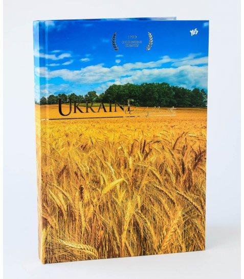 "Блокнот А4 / 160 7БЦ, мат + фольга золото ""Ukraine"" YES"