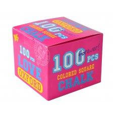 """Крейда кольорова квадратний 100 шт. """"Oxford"""" рожевий"""
