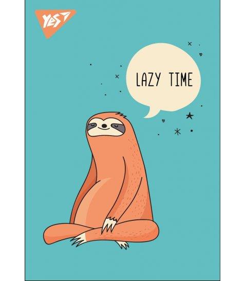 """Блокнот А7 / 48 кл клей YES """"Lazy sloths"""""""