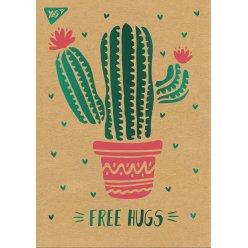 """Блокнот А5 / 80 кл клей, СМІК + білила + фольга YES """"Tropico. Cactus"""" крафт"""
