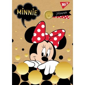"Блокнот А6 / 80 кл клей, СМИК + белила + фольга YES ""Minnie Gold"" крафт"