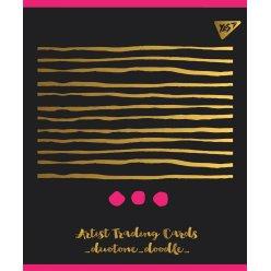 """Зошит для записів А4/96 кл. YES """"DUO TONE"""" мат. ВДЛ+ Пантон 806С+фольга золото+софт-тач"""
