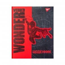 """Щоденник шкільний YES  жорсткий """"Wonder Webbed"""" мат. ламінація. ,  пантоновий друк"""