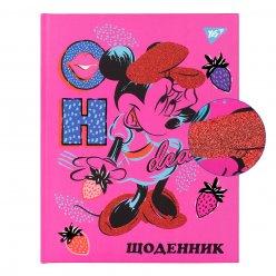 """Щоденник шкільний YES жорсткий """"Oh Minnie"""" мат. ламінация, фольга чорна, червоний глітер"""