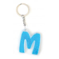 """Брелок YES буква  """"М"""", блакитна"""