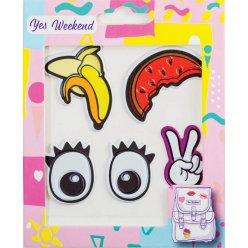 "Набір наклейок YES ""Patch stiker"" глаза, банан"