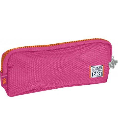 Пенал м'ягкий  YES  рожевий, с набором значков, 19*7*3 - фото 1 з 2