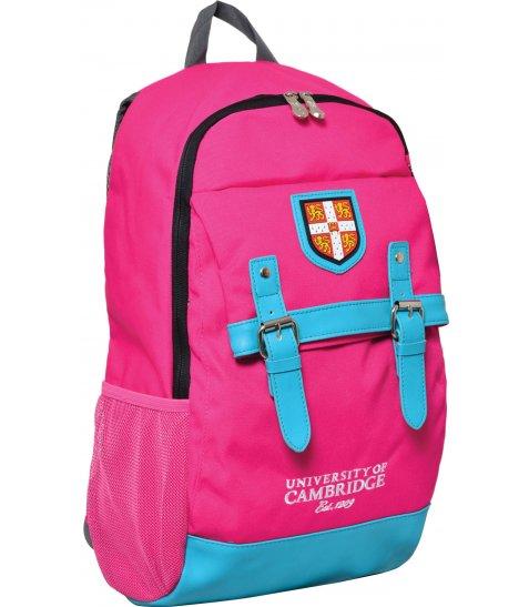 """Рюкзак для підлітків YES  CA064 """"Cambridge"""", рожевий, 29*13*48см"""